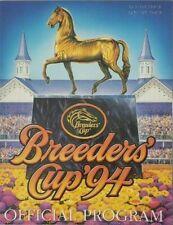 1994 Breeders Cup program Concern Tabasco Cat Best Pal Lure Cherokee Run unused