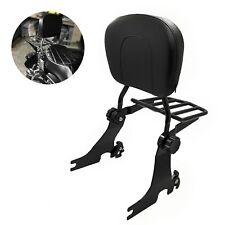 Adjustable Detachable Sissy Bar for 04-UP Harley Sportster Backrest w/ Rack