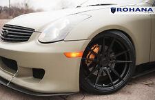20x10 +25 20x11 +28 Rohana RF2 5x114 Black Wheels Fit Infiniti G35 Coupe 5x4.5