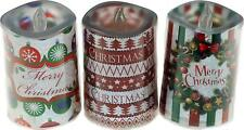 CHRISTMAS COLOUR CHANGING FLICKERING CANDLES 3 PACK
