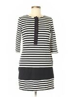 Rag & Bone Black & White Striped Henley Mini Dress, Size 6