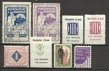 7494E-LOTE SELLOS LOCALES ,VIÑETAS,ESPAÑA GUERRA CIVIL,2ª REPUBLICA.ORIGINALES.