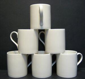 Set Of 1x/2x/4x/6x Data White Fine Bone China Mugs Balmoral Shape 9 Fl oz