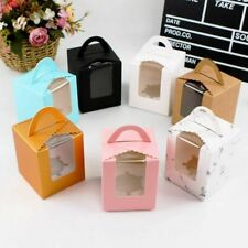 Single Cupcake Boxes And Packaging Containers With Handle New Paper Gifts Holder