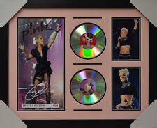 PINK P!NK SIGNED MEMORABILIA FRAMED 2 CD LIMITED EDITION V1 2016 #A