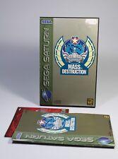 MASS DESTRUCTION für Sega Saturn Spiel USK18 komplett mit Anleitung und OVP