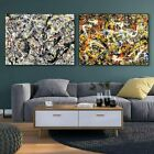 """2PCS Framed Canvas Extra Large Combo Painting by Jackson Pollock 28""""x40"""" Each"""