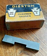 NEW OLD STOCK DISSTON # 3 CLEANER GAUGE  WITH ORIGINAL BOX