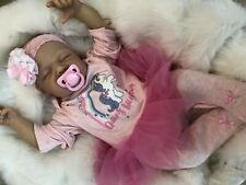 "REBORN DOLLS CHEAP BABY GIRL AMBER REALISTIC 22"" NEWBORN REAL LIFELIKE FLOPPY"