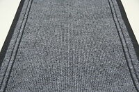 Inca Grey -Hall / Stair Carpet Runner For Narrow Staircase Modern Hard Wearing