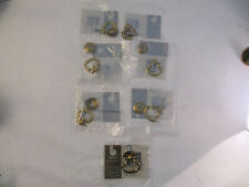 NOS Belwith Brass Drop Ring Drawer Door Pull Lot of 7