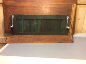Handmade Arts & Crafts Shelf , Green Wood Shutter , Spoon Rack