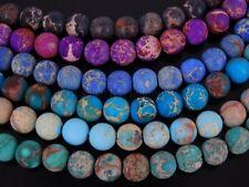 Natural Matte Sea Sediment Jasper Gemstone Round Beads 15.5'' 4mm 6mm 8mm 10mm