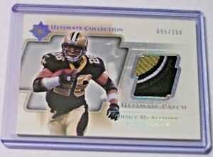2014 Ultimate Collection Game Jersey Patch Deuce McAllister /150 Saints Ole Miss