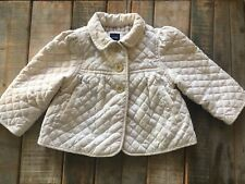 Baby Gap Quilted Fall Cream Jacket Coat Size 12-18 Months Euc