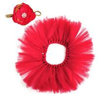 Baby Newborn Photography Photo Costume Prop Tutu Skirt Flower Headband Clothes