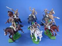 BRITAINS DEETAIL DSG French Foreign Legion in Tan 6 Toy Soldiers Custom Mounted