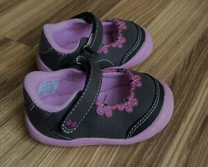 NWOT Stride Rite Surprize Angie Brown & Pink Mary Jane Shoes Toddler Girls 5.5