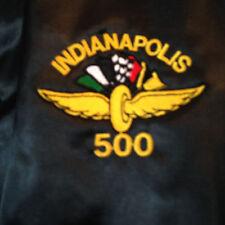Vintage Indianapolis 500 Motor Speedway Snap Front Jacket Mens Black