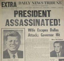 JFK ASSASSINATION John F Kennedy Newspaper Fri Nov 22 1963 EXTRA Headline Photos