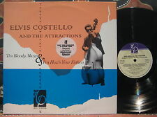ELVIS COSTELLO & The ATTRACTIONS Ten Bloody Marys & How's Your Fathers '84 Oz LP
