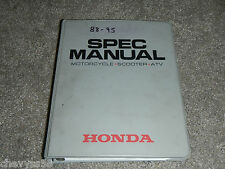 1988-1995 88 95 Motorcycle Atv Scooter Service Specifications Spec Book Manual