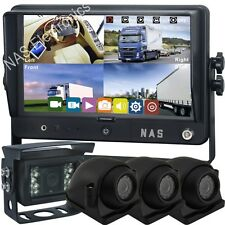 """9"""" DVR Vehicle Monitor 4 Cameras Kits With Split Screen Monitor CCD Backup Cam"""