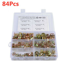 84Pcs 10-18mm Car Spring Fuel Line Hose Clip Water Pipe Air Tube Clamp Fastener