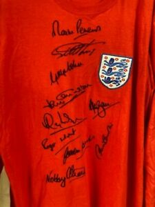 World Cup 1966 replica shirt presentation 10 sigs direct from agent