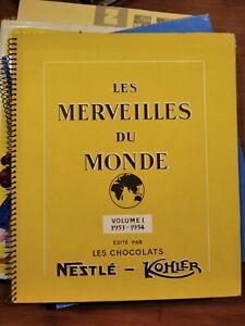 ALBUM LES MERVEILLES DU MONDE VOLUME 1 DE 1953-1954 - NESTLE