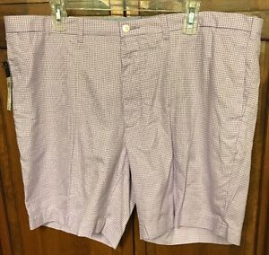 Polo Ralph Lauren Slim GI Fit Purple Gingham Check Shorts Men 40 XL $89.50 NWT