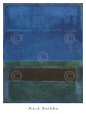ABSTRACT ART PRINT Untitled, 1952 (Blue, Green, and Brown) by Mark Rothko 37x28