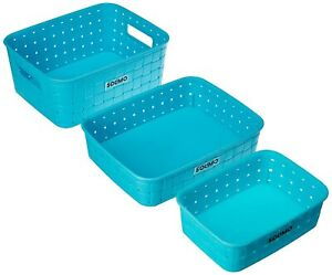 High Quality Plastic Fruit Basket Set 3 pieces