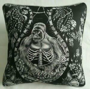 Emma J Shipley SILVERBACK CHARCOAL cushion cover 41cm X 41cm