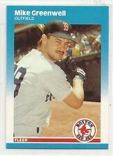 1987 Fleer Update Baseball - #U-37 - Mike Greenwell - Boston Red Sox