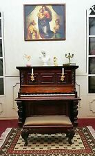 Doll Furniture Mahogany Piano & Bench~ 1/6 scale Barbie Silkstone Royalty