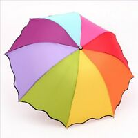 Sonnenschirm Sturmsicher Regenschirm Stockschirm Partnerschirm Regenbogen
