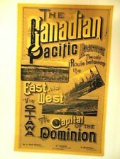 older Canadian Pacific Railroad (Western Division) poster
