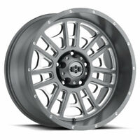 "8x165.1 Wheel 20"" Inch Rim Vision WIDOW 418 20x12 -51mm Grey Milled"