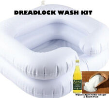 Dreadlock hair wash inflatable basin full dread soak kit ACV rinse and Bicarb UK