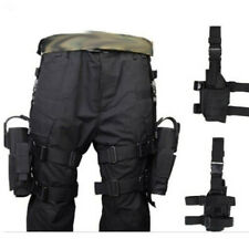 Airsoft Tactical Pistol Holster Drop Leg Thigh Pouch Bag for Right + Left Hand