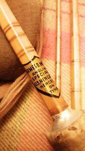 "James B Walker Antique 3 Piece Cane Fishing Rod 8'3"""