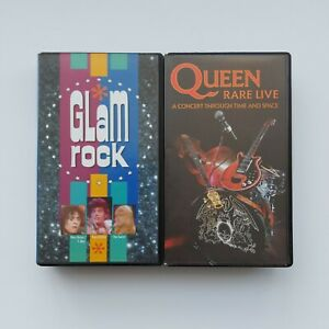 Glam Rock VHS 1988 & Queen Rare Live - A Concert Through Time And Space VHS