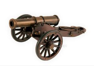 "Civil War Artillery Cannon Metal Model 12"" American Civil War Military Decor New"