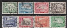 ADEN 1939 KGVI DEFINITIVES 8 USED STAMPS TO 1r