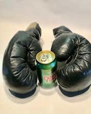 Vintage leather Classic boxing gloves Black Old Fashioned