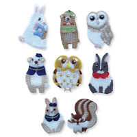 Christmas Animals Bear Chipmunk Owls Iron/Sew on Appliques Embroidered Patches