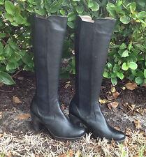Web Black Leather Boots 0396 Kay Valeria Size Eur 37 US 5