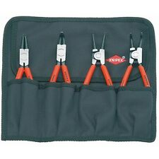 Knipex 4 Piece Snap Ring Circlip Pliers Set w/Tool Roll 21646