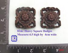 """82M """"2 Square badges"""" clock case / furniture DIY"""